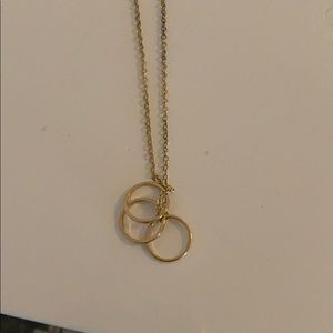 Necklace with three rings